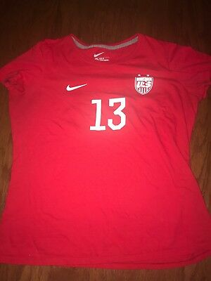 5c1869d3a72 discount code for alex morgan 13 us usa soccer nike slim fit xl hero t shirt