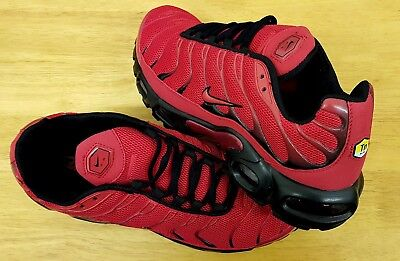 12a2a6e871 Nike Air Max PLUS TN MEN'S RED AND BLACK TRAINERS SHOES UK SIZE 9 US 10