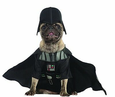 Halloween Pet Dog Costume - Disney Star Wars Darth Vader Costume - Sz S (NEW)