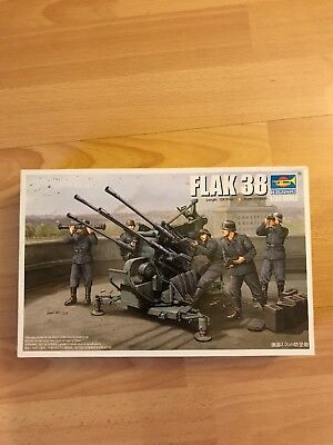 Trumpeter 02309 FLAK 38 German 2.0cm anti-aircraft guns  NEU OVP -