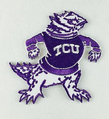 """TCU Texas Christian Horned Frogs Vintage Embroidered Iron On Patch NCAA 3"""" x 3"""""""