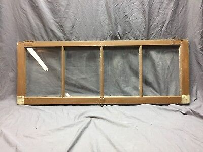 Antique 4 Lite Transom Casement Window Sash 18X48 Shabby Vintage Chic 395-18C