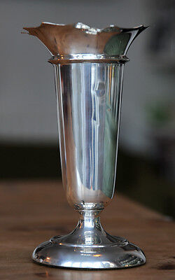 10 inch solid silver vase by Deakin & Francis 1923-24