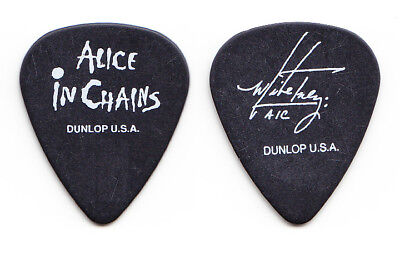 Alice in Chains Mike Inez Signature Black Guitar Pick - 1990s Tours
