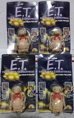 Lot of (4) Vintage 1982 LJN E.T. The Extra-Terrestrial Figures #1205 MOC