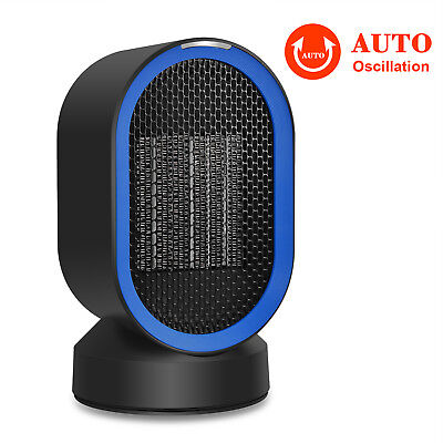 Portable Electric Ceramic Space Heater Handy Air Warmer Silent Desk Home/Office