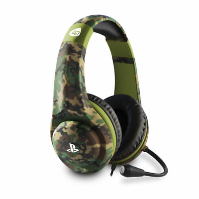 Official Licensed PRO4-70 GREEN CAMO Stereo Gaming Headset Playstation 4 PS4 NEW