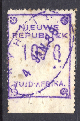 SOUTH AFRICA NEW REPUBLIC  1877 10/6  USED  cat. £35