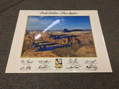 """2013 US NAVY BLUE ANGELS """"Zion National Park"""" 16x20 LITHO Authentic poster NEW"""