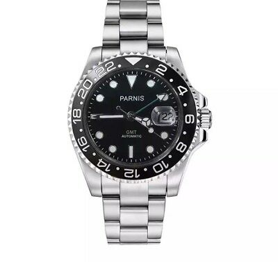 Parnis GMT Green Dial Automatic Submariner 40mm Mens Date Watch .