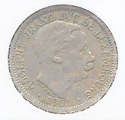1901 Luxembourg 10 Centimes KM# 25 Adolphe Nice Circulated # WB 13
