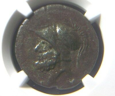 AE27 from Bruttium Southern Italy, Hannibal occupation 214-203 BC NGC VF 1009