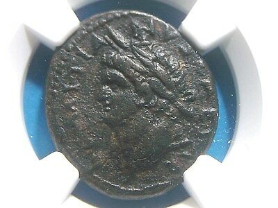 Authentic Roman Provincial coin of Emperor Domitian AE24 Antioch NGC Ch VF  1006