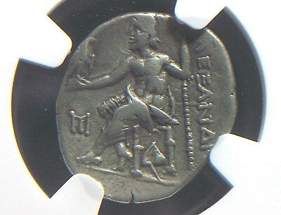 Silver Drachm of Alexander III the Great, 336-323 BC NGC VF  3006