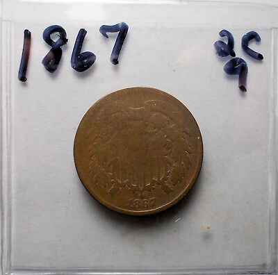 1867 Two Cent Piece #2C 9