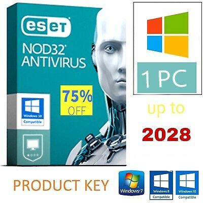 Eset Nod 32 (product key 10 Years up to 2028)!
