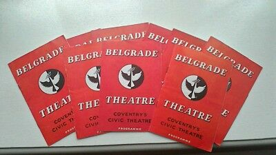 BELGRADE THEATRE COVENTRY 9 x PROGRAMMES 1960-61
