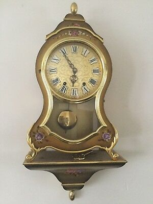 French Boulle Style Bracket / Mantel Clock with Bracket - the 'ELUXA' Swiss Made