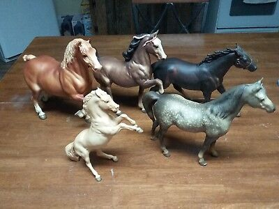 Lot Of 5 Vintage Breyer Horses