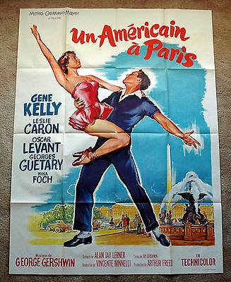 Vintage Original 1951 AN AMERICAN IN PARIS - Movie Poster Film Art musical Kelly