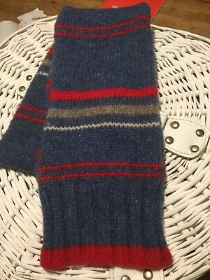 Cath Kidston Kids Knitted Scarf 100% Lambswool, Blue/red Stripe