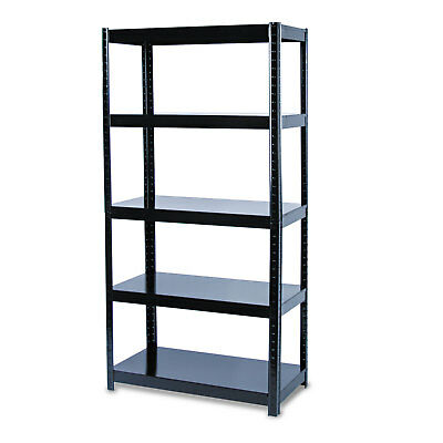 Safco Boltless Steel Shelving Five-Shelf 36w x 18d x 72h Black 5245BL
