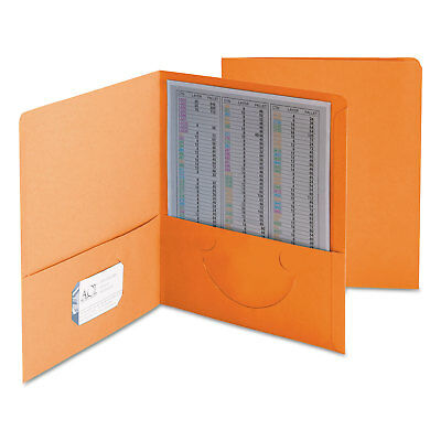 Smead Two-Pocket Folder Textured Paper Orange 25/Box 87858