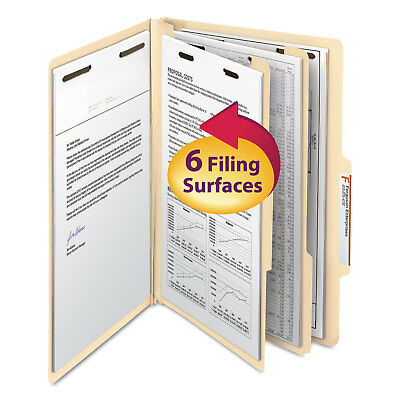 Smead Manila Classification Folders with 2/5 Right Tab Legal Six-Section 10/Box