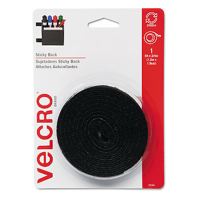 Velcro Sticky-Back Hook and Loop Fastener Tape with Dispenser 3/4 x 5 ft. Roll