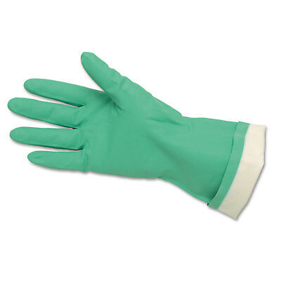 Memphis Flock-Lined Nitrile Gloves Green 12 Pairs 5319E