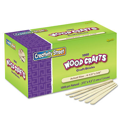 Chenille Kraft Natural Wood Craft Sticks 4 1/2 x 3/8 Wood Natural 1000/Box