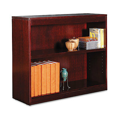 Alera Square Corner Wood Veneer Bookcase, Two-Shelf, 35-5/8w x 11-3/4d x 30h,