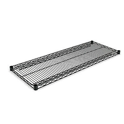 Alera Industrial Wire Shelving Extra Wire Shelves, 48w x 18d, Black, 2 Shelves