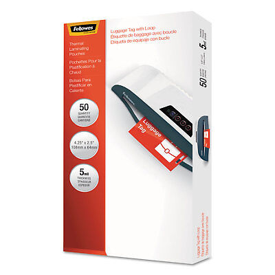 Fellowes Laminating Pouches 5mil 3 7/8 x 2 5/8 ID Size 25/Pack 52033