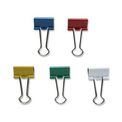 "Sparco Binder Clip,Small,3/4""Wide,3/8"" Capacity,36/BX,Assorted 02270"