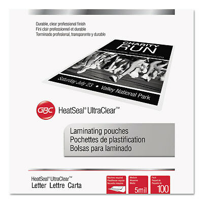 Swingline Laminating Pouches 5 mil 9 x 11 1/2 100/Pack 3200654