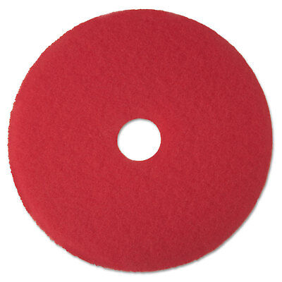 "3M Red Buffer Floor Pads 5100 Low-Speed 13"" 5/Carton 08388"