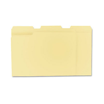 UNIVERSAL File Folders 1/3 Cut Assorted One-Ply Top Tab Letter Manila 100/Box