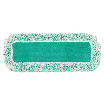 "Rubbermaid Commercial Dust Pad w/Fringe Microfiber 18"" Long Green Q418GN"