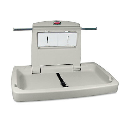 Rubbermaid Commercial Sturdy Station 2 Baby Changing Table Platinum 781888