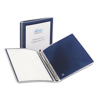 new avery flexi view 5 inch binder navy blue 1 15766 office mailer