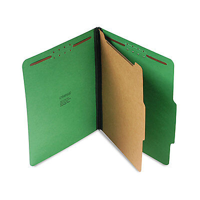 Universal Pressboard Folder Letter Four-Section Emerald Green 10/Box 10202