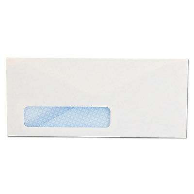 UNIVERSAL Security Tinted Window Business Envelope #10 4 1/8 x 9 1/2 White 500