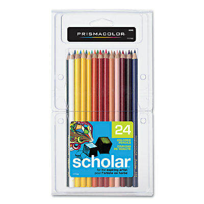 Prismacolor Scholar Colored Pencil Set 2B. 24 Assorted Colors/Set 92805