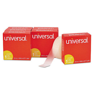"Universal Invisible Tape 3/4"" x 1000"" 1"" Core Clear 6/Pack 83410"