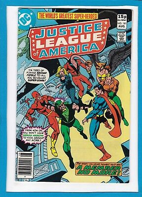 """Justice League Of America #181_August 1980_Vf+_""""a Member No More""""_Bronze Age Uk!"""