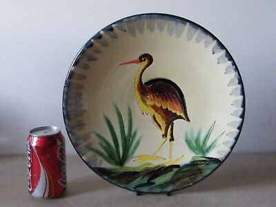 Vintage Puigdemont Art Pottery Wall Plate Plaque Hand Painted 31.5 cm