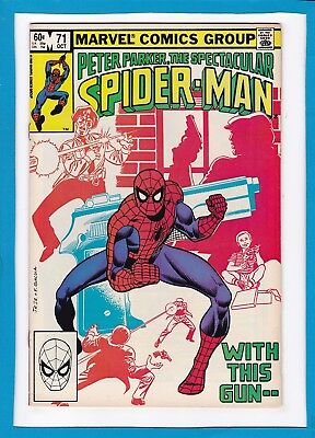 """Peter Parker, The Spectacular Spider-Man #71_October 1982_Fine+_""""with This Gun""""!"""
