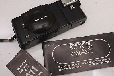 Olympus XA3 with A11 Flash and manual
