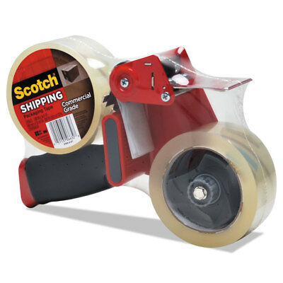 """Scotch Packaging Tape Dispenser with 2 Rolls of Tape 1.88"""" x 54.6yds 37502ST"""